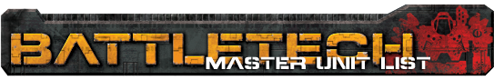 BattleTech Master Unit List